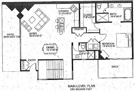 Park City Vacation Rental - Juniper Landing Floor Plan