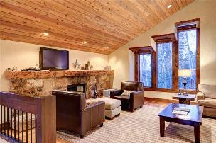 Park City Vacation Rentals - Living Room with Fireplace & TV
