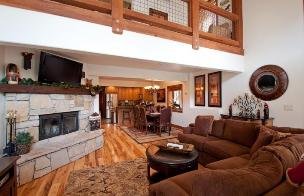 Park City Vacation Rentals - Great Room with Fireplace