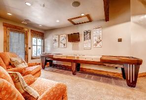Park City Vacation Rental - Family Room Shuffleboard